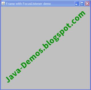 Using WindowFocusListener for AWT Frame