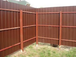 Забор из профлиста. Фото 15
