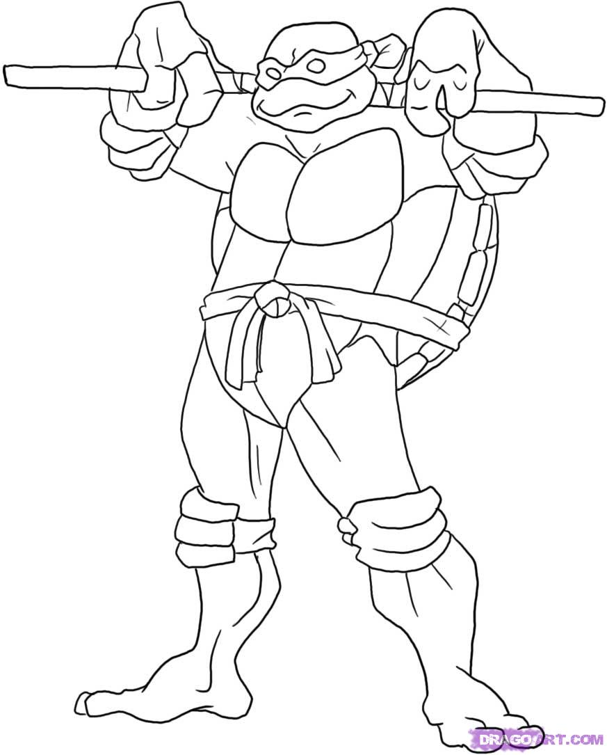 Fan image intended for ninja turtles printable coloring pages