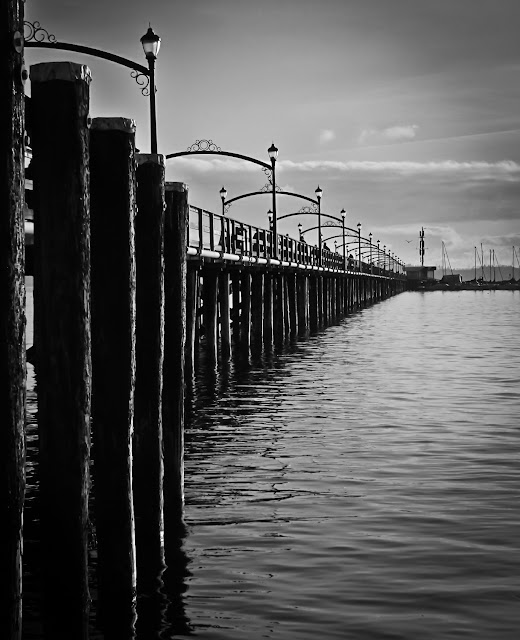 Ocean Pier in Black and White - Fine Art Photography Landscape Prints