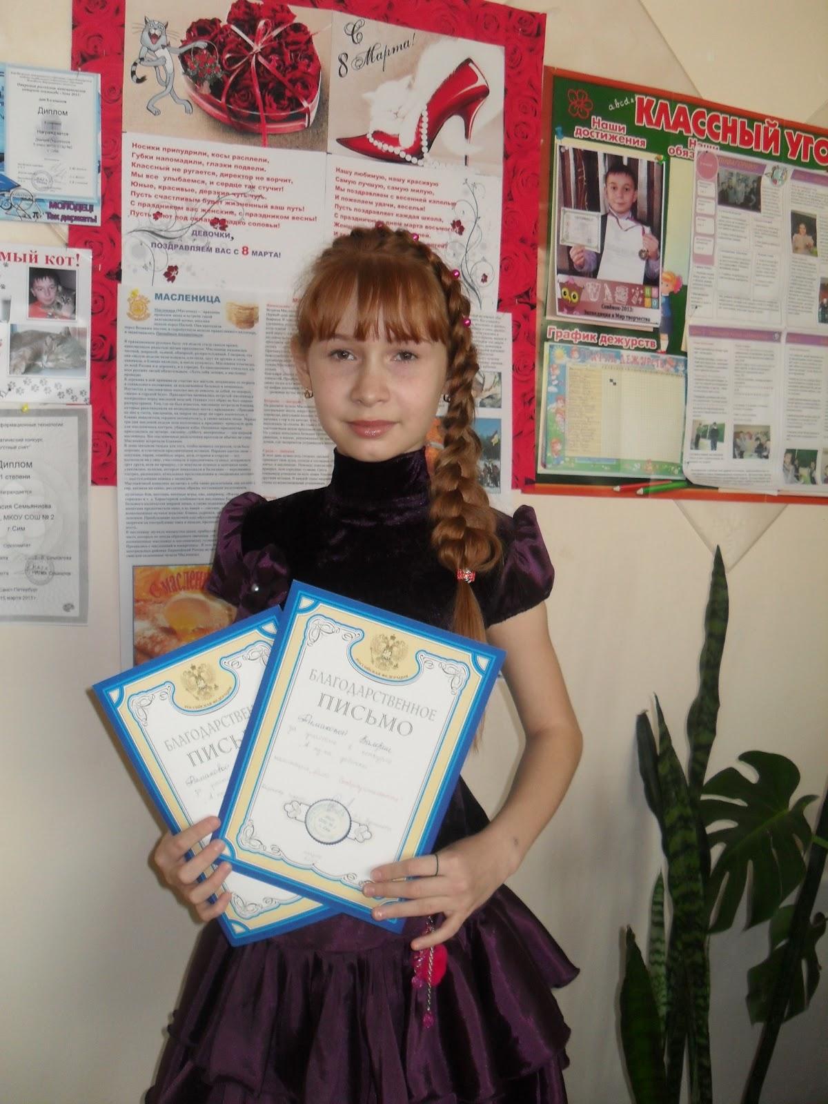 Визитки девочек на конкурс