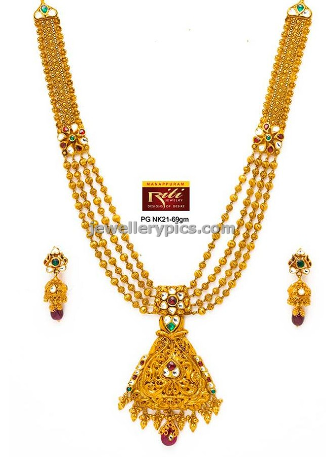 gold jewellery designs beads necklace antique multchain
