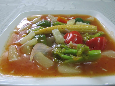 Sweet And Sour Veggies - With Very Easily Available Ingredients