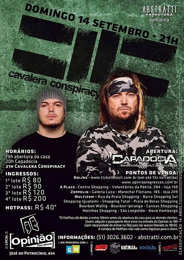 Cavalera Conspiracy Estremecendo POA/RS!