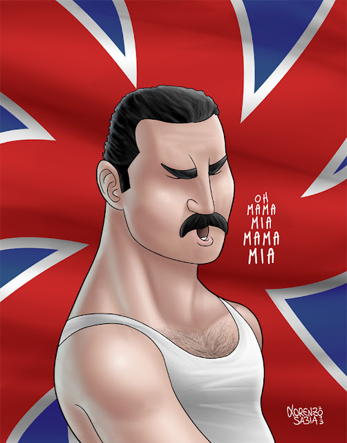 Freddy Mercury by Lorenzo Sabia