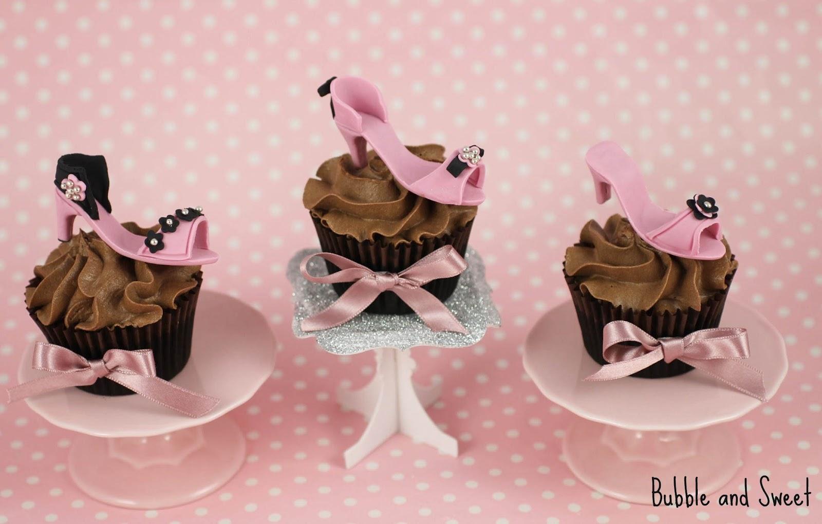 and sweet high heel shoe cupcakes high