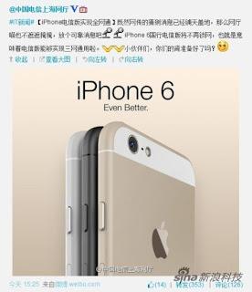 Apple iPhone 6 publicité chinoise