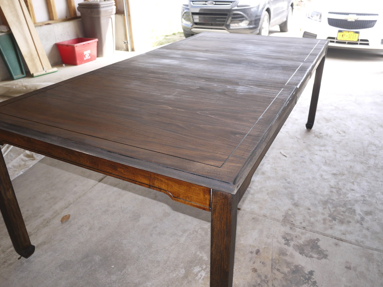 diy refinish dining room table