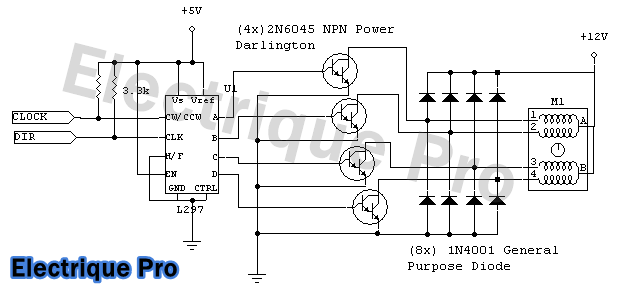 control unipolar stepper motor