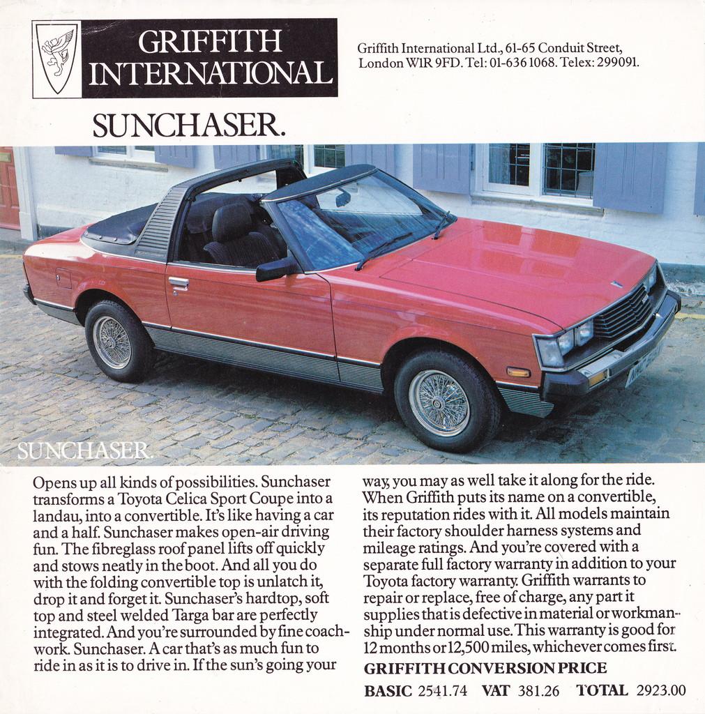 TA40 RA40 Griffiths Sunchaser & TX22 Brochure