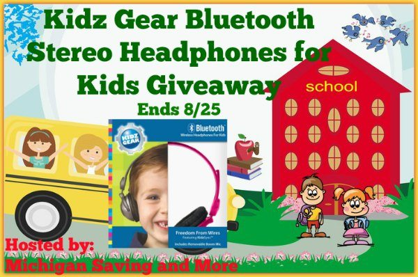 Kids Gear Bluetooth Stereo Headphones for Kids