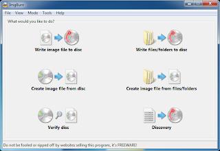 Cara Membakar CD/DVD Dengan ImageBurn