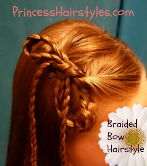 Bow Hairstyle Made From Braids