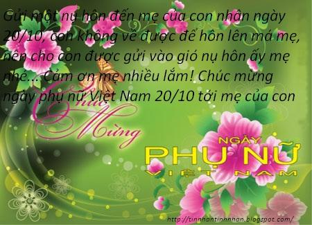 Tổng hợp những tấm thiệp 20-10 đẹp nhất bằng lời chúc ngày phụ nữ Việt Nam