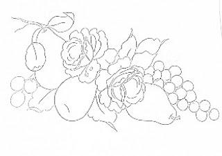 rosas, peras e uvas