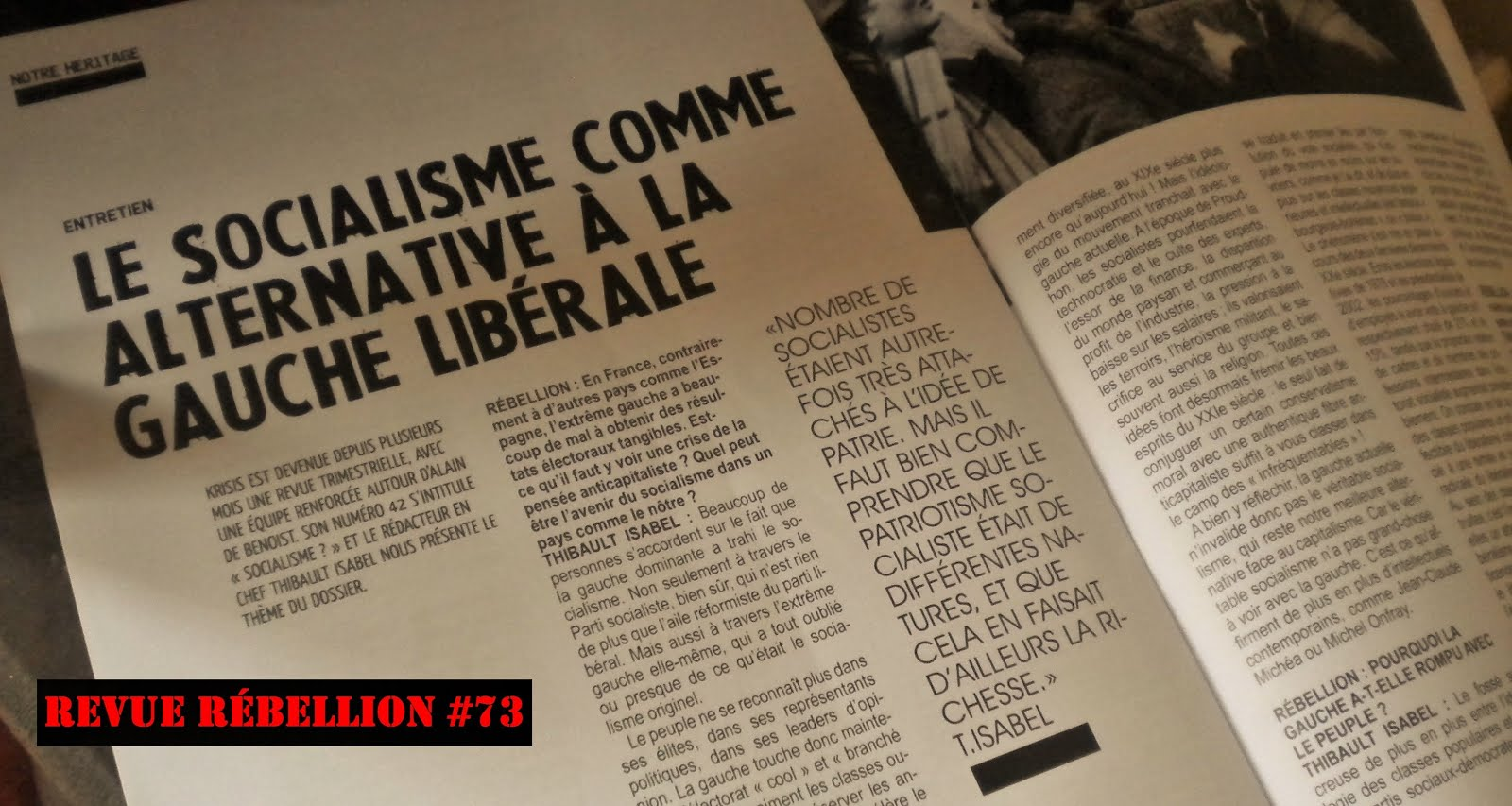 Un article de Thibault Isabel - Rébellion #73