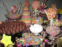 mesa de guloseimas doces
