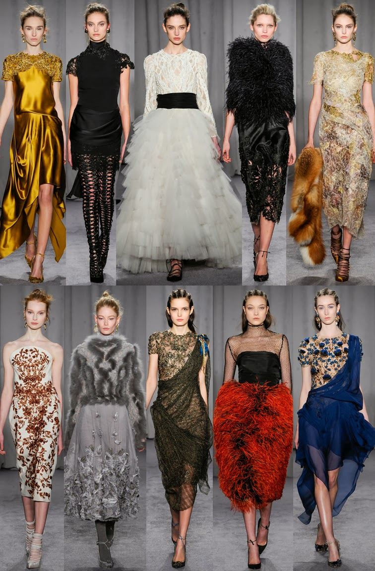 Marchesa fall winter 2014, NYFW, fashion week, Georgina Chapman, Karen Craig, eveningwear