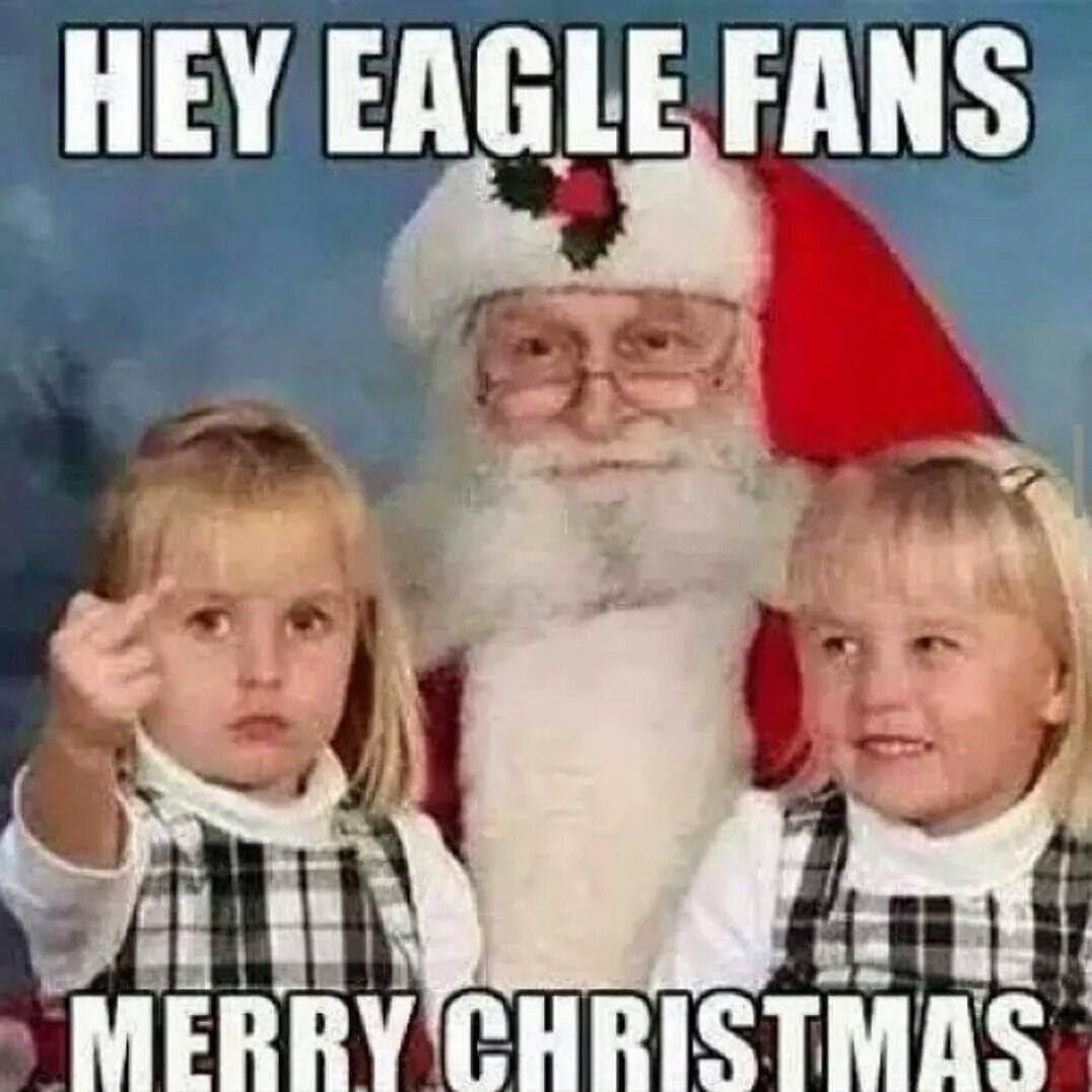 hey eagle fans merry christmas