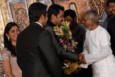 Karthi reception photo with Ilayaraja