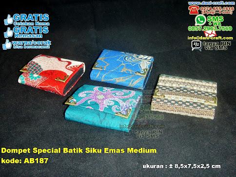 Dompet Special Batik Siku Emas Medium