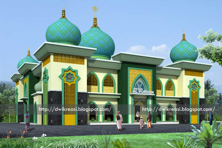 desain bangunan masjid