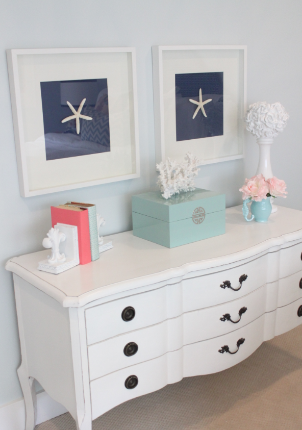 Diy shell art for Seashell bedroom decor