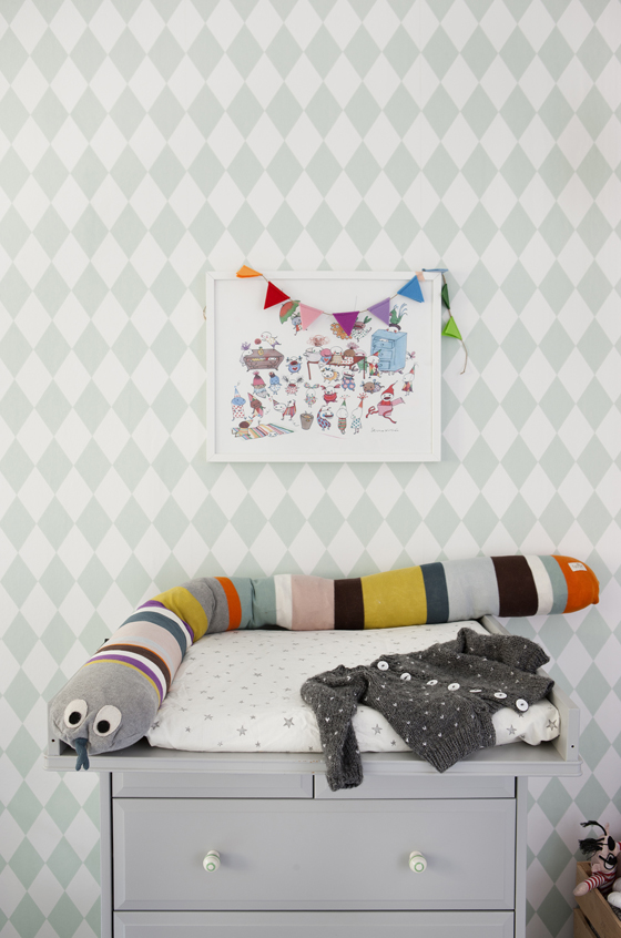 Ferm Living Tapete Harlequin : Ferm Living Kids Room