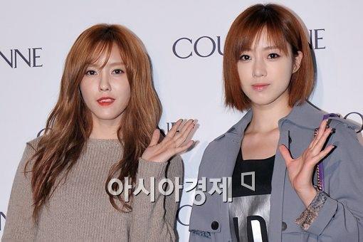 Foto T-ara Eunjung dan Hyomin di Pembukaan Event COURONNE