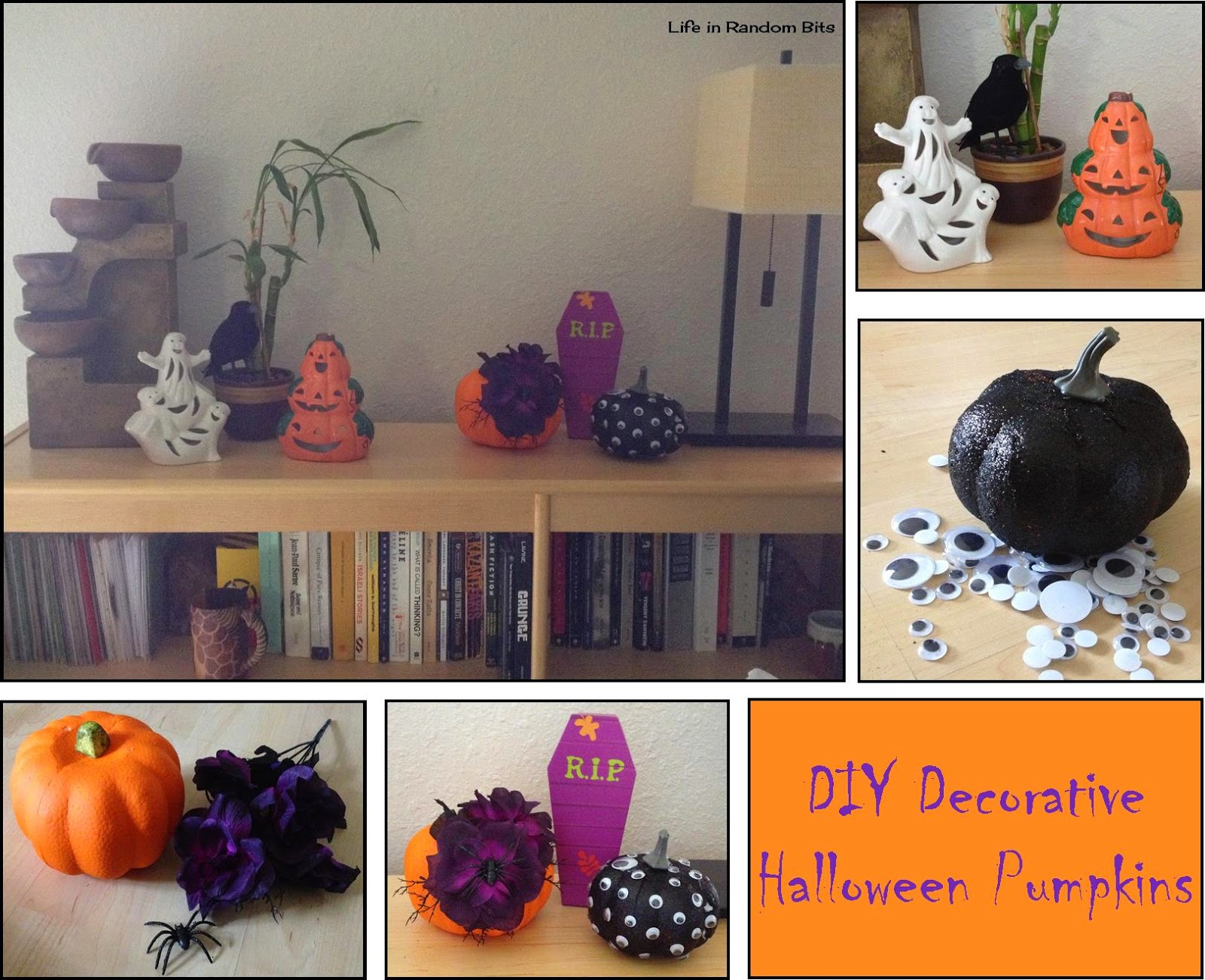 DIY decorative pumpkins ~ Life in Random Bits #halloween #diy #decorations #pumpkins