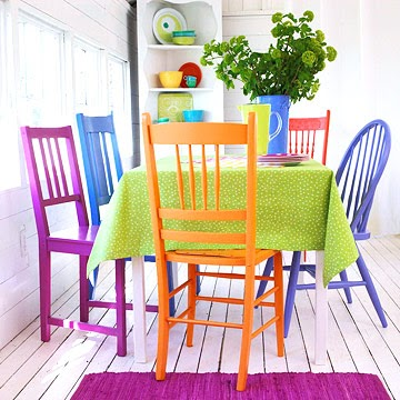 the wool acorn colorful dining chairs