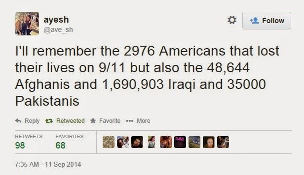 Tweet on 9/11