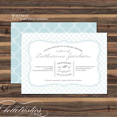 quatrefoil pattern typographic bridal shower party invitation diy printable pdf template