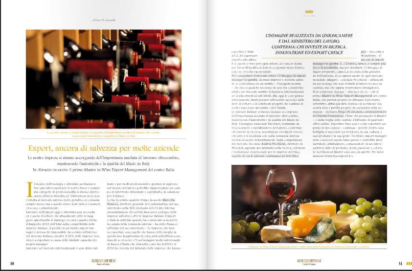 wine export management su abruzzo impresa