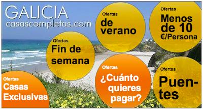 Ofertas Casas de Vacaciones en Galicia, rias gallegas, la coruña, pontevedra, casas, pisos, apartamentos, precios baratos