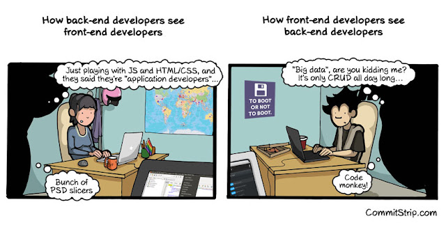 How back end and front end dev see each other