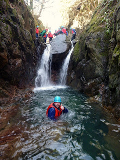 Canyoning Sessions in The Lake District with Kendal Mountaineering Services.