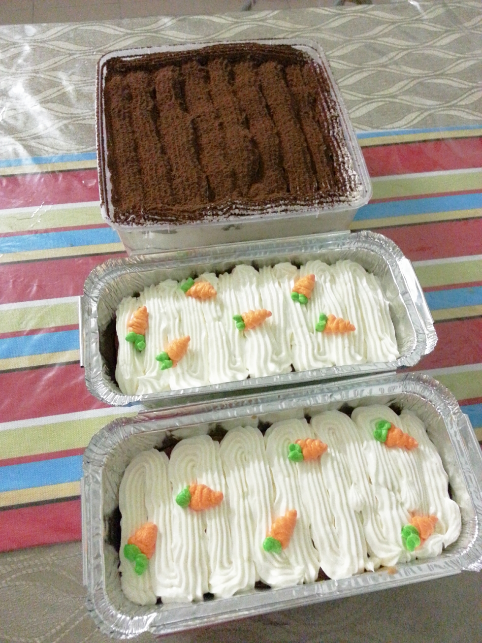 Heavenly carrot cake & tiramisu cake