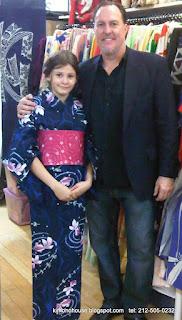 Kimono for school presentation, Father and Daughter