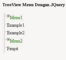 JQuery TreeView Menu