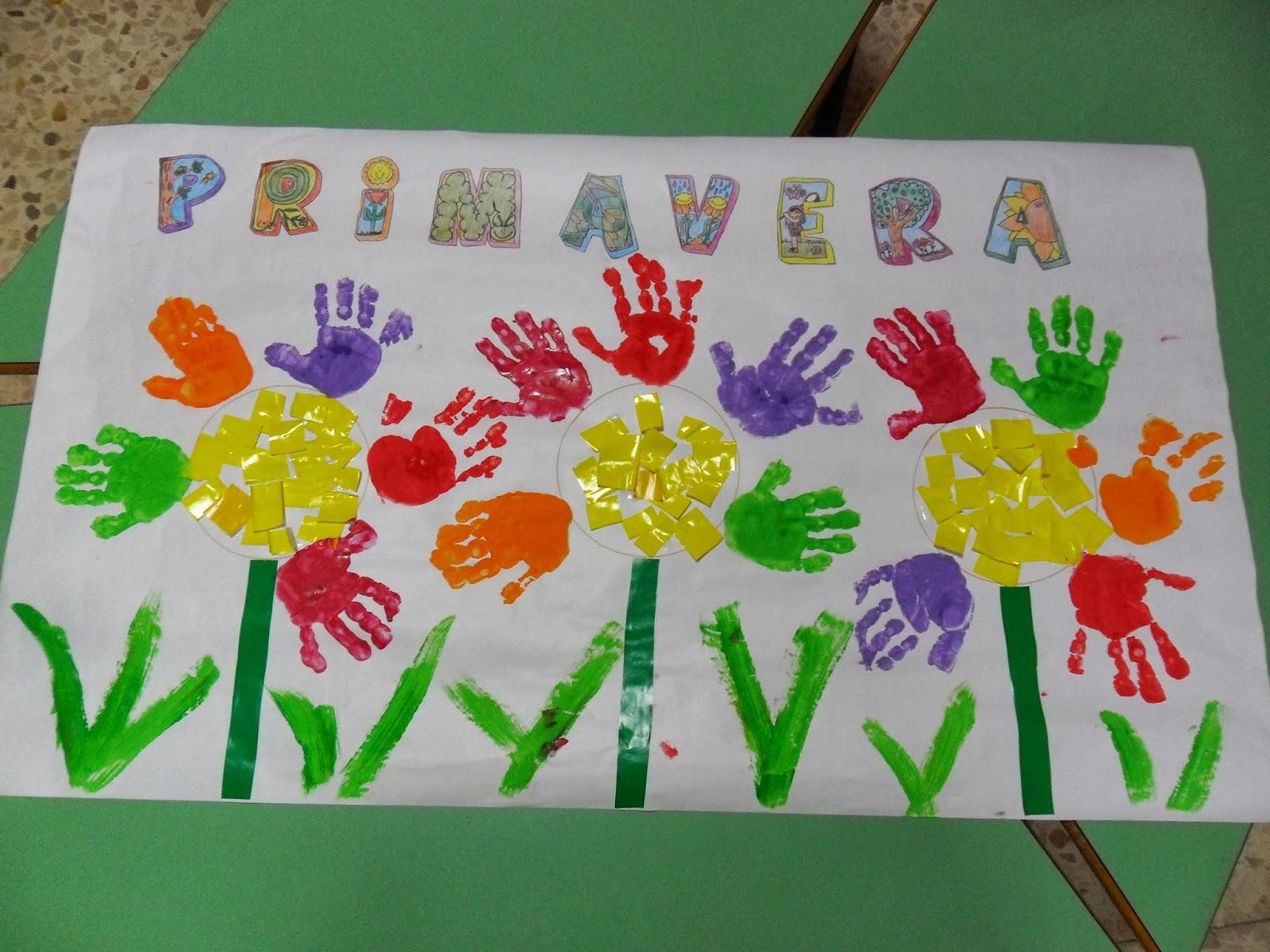 Materiales para educaci n infantil la primavera ha venido for Mural de fotos en cartulina