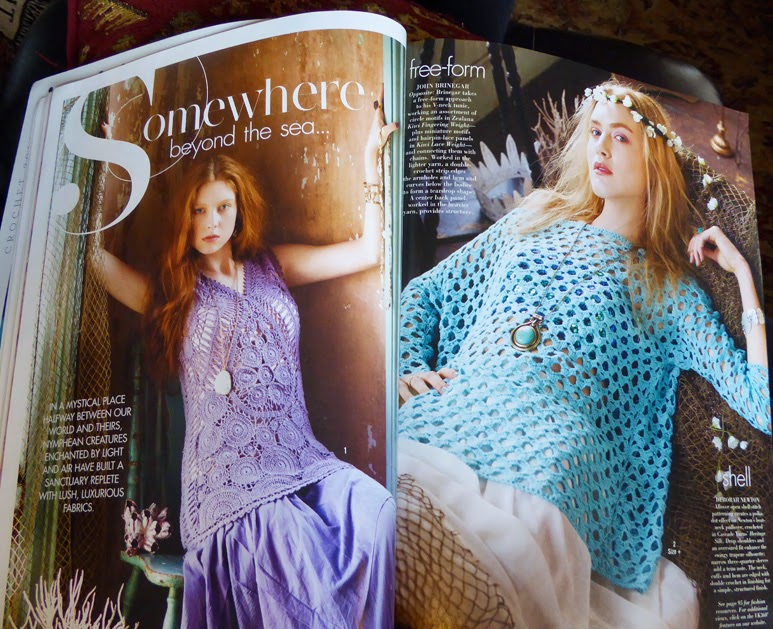 Just Crochet Magazine : just wish I had the shape of these models! I love all the laciness!