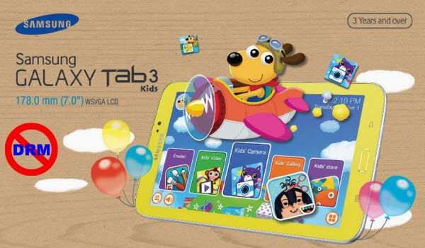 Play DRM-protected kids' movies on Galaxy Tab 3 Kids Edition