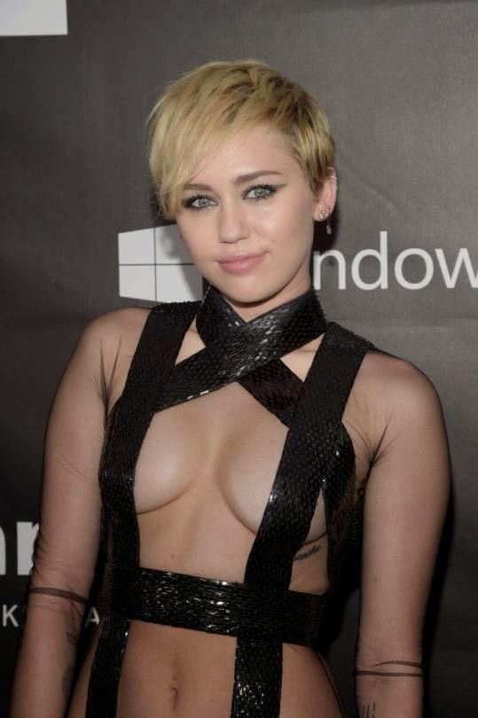 Miley Cyrus - 2014 amfAR LA Inspiration Gala