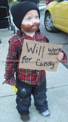 a homeless baby work for candy haha