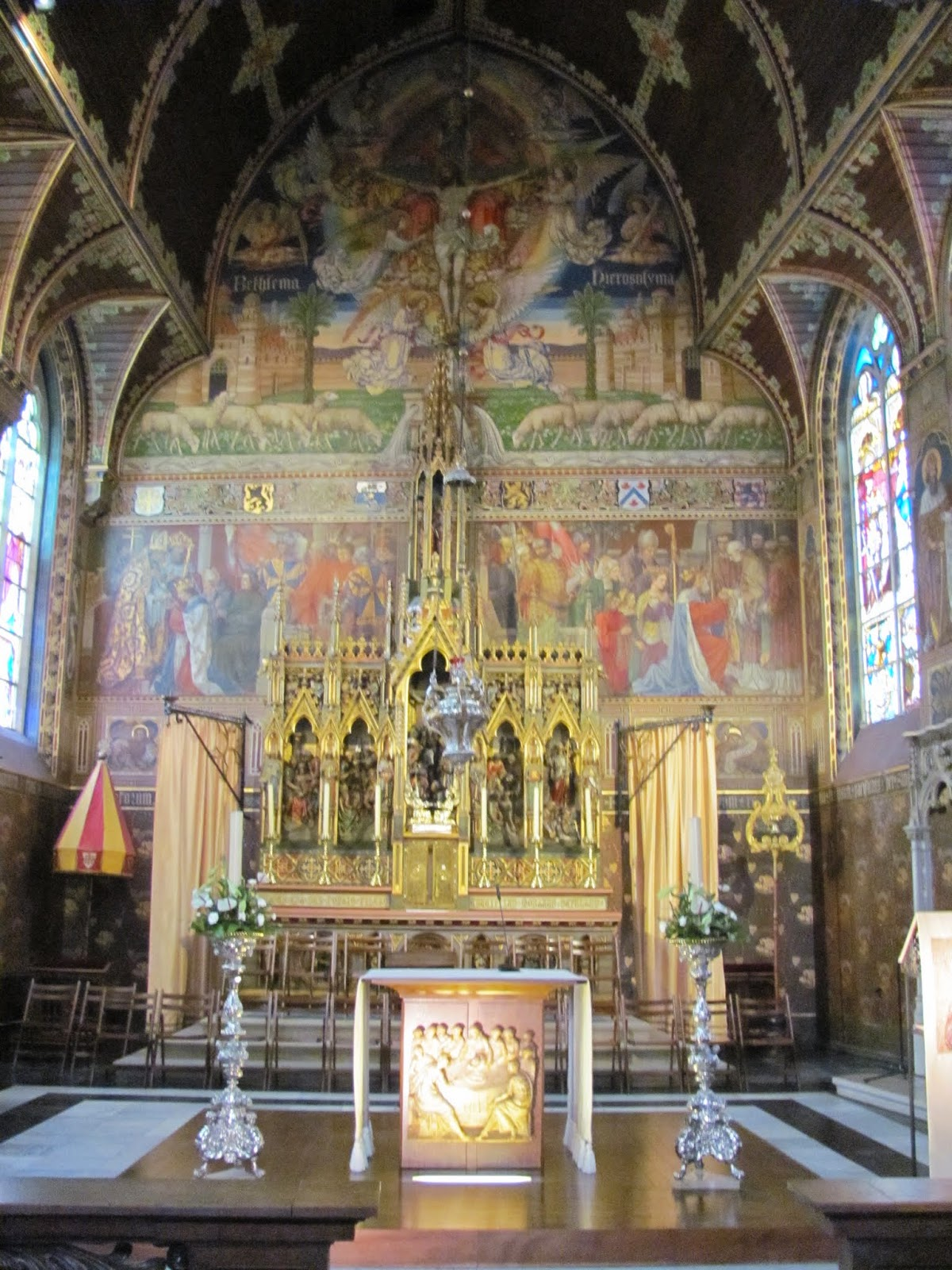 Basilica of the Holy Blood Upper Chapel Bruges Belgium
