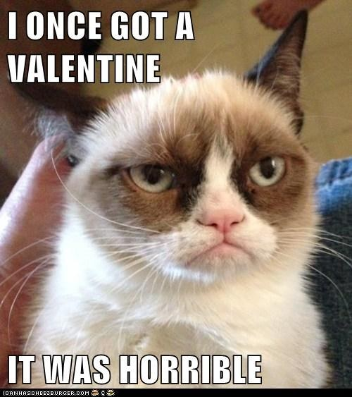 grumpy cat valentines day a little valentines memage for the forever alone peeps and anyone having a bad day this valentines day - Grumpy Cat Valentine