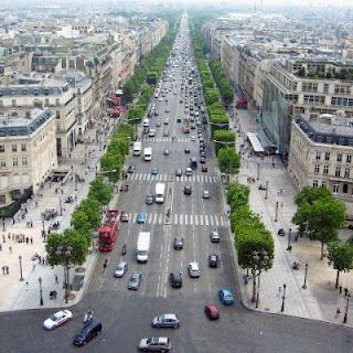 Campos Eliseos desde lo alto del Arco de Triunfo, Paris