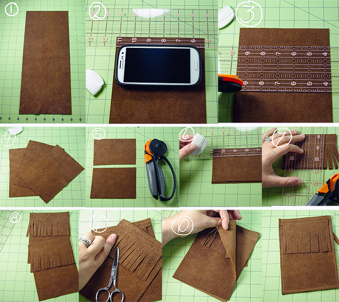 DIY Leather Cell phone case