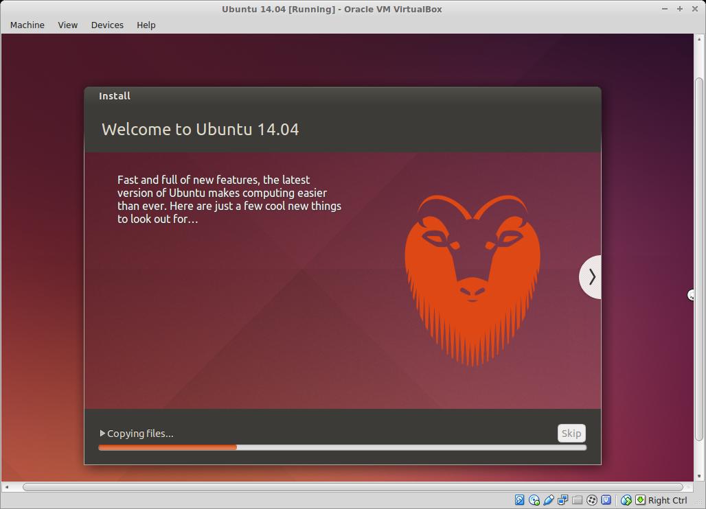 mamasang ubuntu 14.04 LTS di virtualbox